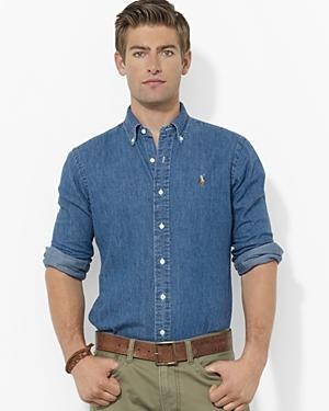 38969c5317 ... Ralph Lauren Polo Denim Classic Fit Button Down Shirt