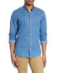 Nordstrom Men's Shop Slim Fit Chambray Shirt