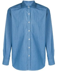 Canali Slim Fit Denim Shirt