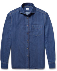 Brunello Cucinelli Slim Fit Denim Shirt