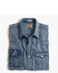 J.Crew Slim Lightweight Denim Western Shirt