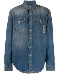Givenchy Snap Button Up Denim Shirt