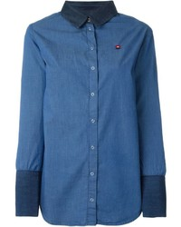 Sonia By Sonia Rykiel Two Tone Denim Shirt
