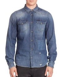 Diesel Sonora Faded Denim Shirt