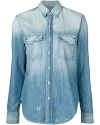 Stone washed denim shirt medium 384986