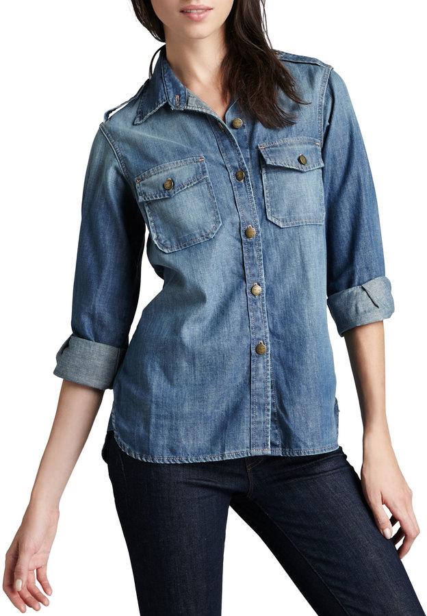 8244a69394 The Perfect Denim Shirt. Blue Denim Shirt by Current Elliott