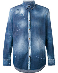 Tie dye denim shirt medium 3762123