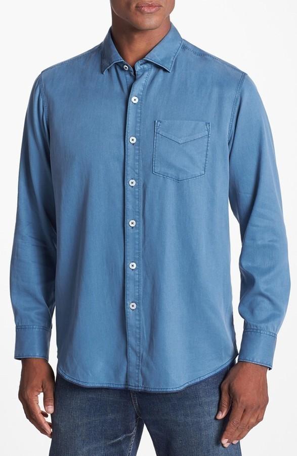 Tommy bahama denim still twillin island modern fit sport for Where to buy tommy bahama shirts
