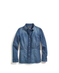 Tommy Hilfiger Denim Pin Tuck Pindot Shirt