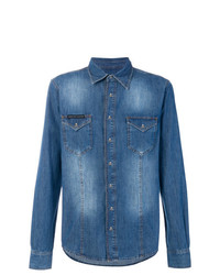 Philipp Plein Washed Denim Shirt