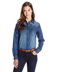 Wrangler western denim shirt medium 385027