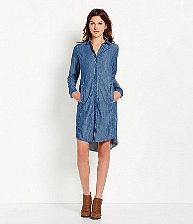 93d9a6c84d9 ... Eileen Fisher Denim Shirtdress ...