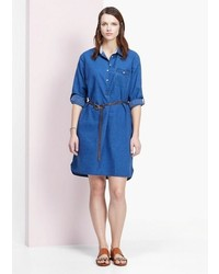 Violeta by mango denim shirt dress medium 218885