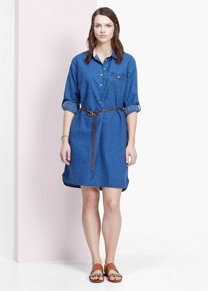 e7a9788948622 Violeta BY MANGO Denim Shirt Dress   Where to buy   how to wear