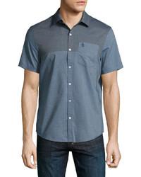 Original Penguin Colorblock Short Sleeve Shirt Dark Blue