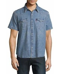 Levis Premium Rugged Denim Short Sleeve Shirt