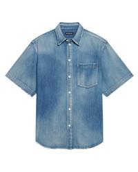Balenciaga Short Sleeve Denim Shirt