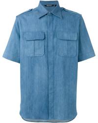 Neil Barrett Short Sleeve Denim Shirt