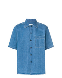 AMI Alexandre Mattiussi Short Sleeve Denim Shirt