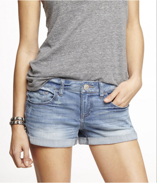 Express 2 12 Inch Rolled Denim Shorts   Where to buy & how to wear