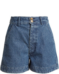 Apiece Apart Cotton Denim Shorts