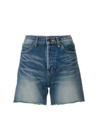 Saint Laurent Cut Off Denim Shorts