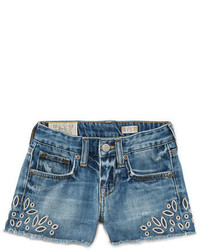 Ralph Lauren Denim Cutoff Eyelet Shorts Blue Size 5 6x
