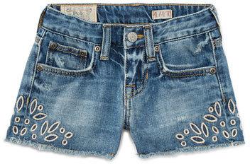 Ralph Lauren Denim Cutoff Eyelet Shorts Blue Size 5 6x