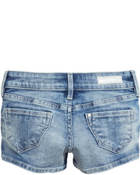 H&M Denim Shorts With Zips Denim Blue Kids