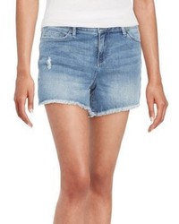 Calvin Klein Jeans Distressed Cut Off Denim Shorts
