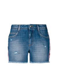 Ermanno Scervino Floral Applique Denim Shorts