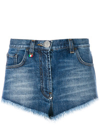 Philipp Plein Heart Denim Shorts