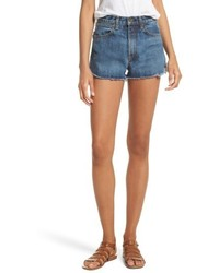 Jean lou high waist cutoff denim shorts medium 4951382