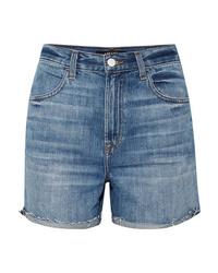 J Brand Joan Distressed Denim Shorts