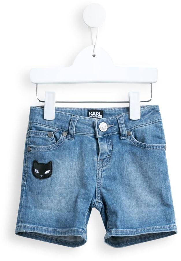 Karl Lagerfeld Kids Kuracao Denim Shorts