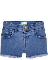 River Island Mini Girls Blue Denim Shorts