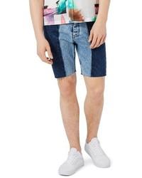 Spliced slim fit denim shorts medium 3714755