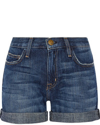 Current/Elliott The Boyfriend Denim Shorts Mid Denim