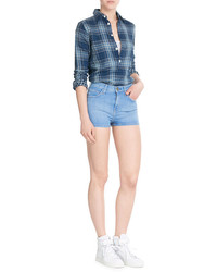 Current/Elliott The High Waist Denim Shorts