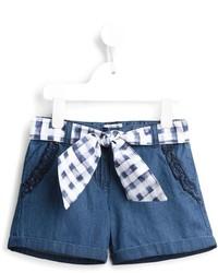 Armani Junior Tie Fastening Denim Shorts