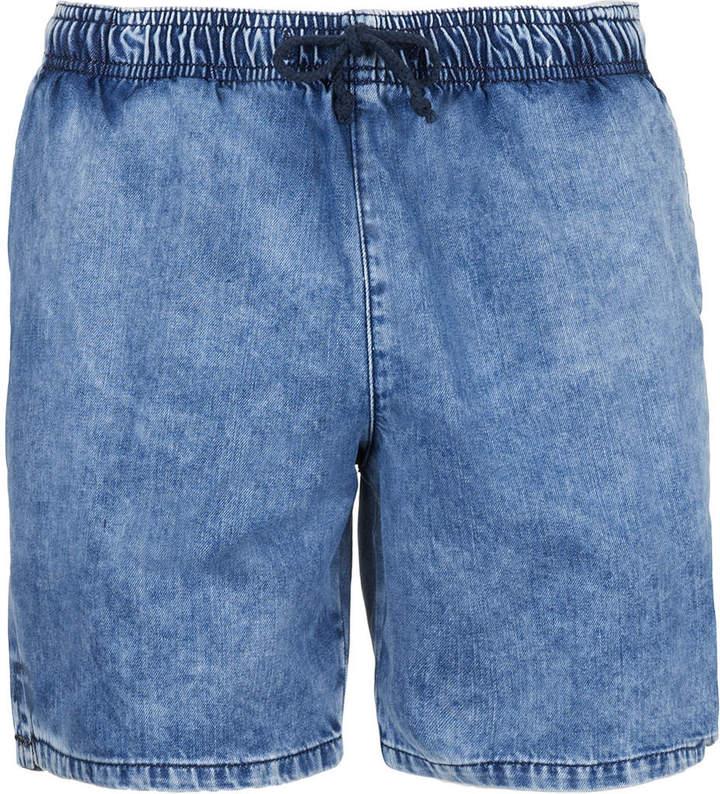 Topman Light Blue Denim Acid Wash Shorts | Where to buy & how to wear