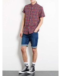 ... Topman Mid Wash Slim Denim Shorts ... fc94e14a3357