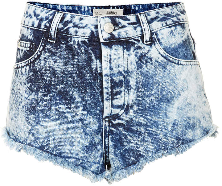 high waisted acid wash jean shorts - Jean Yu Beauty