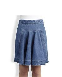 Blue Denim Skater Skirt
