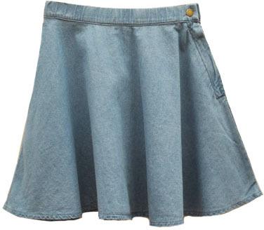 chicnova denim mini skater skirt where to buy how to wear