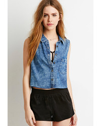 Forever 21 Denim Pocket Shirt