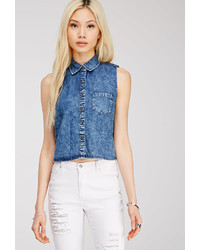 Forever 21 Mineral Wash Denim Shirt