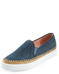 Kate Spade New York Cory Denim Slip On Sneaker Blue