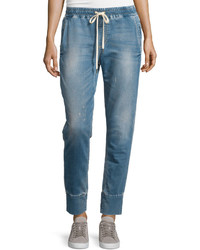 Joe's Jeans Distressed Denim Jogger Pants Leomie Blue