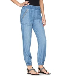 Juicy Couture Faux Denim Jogger Pants